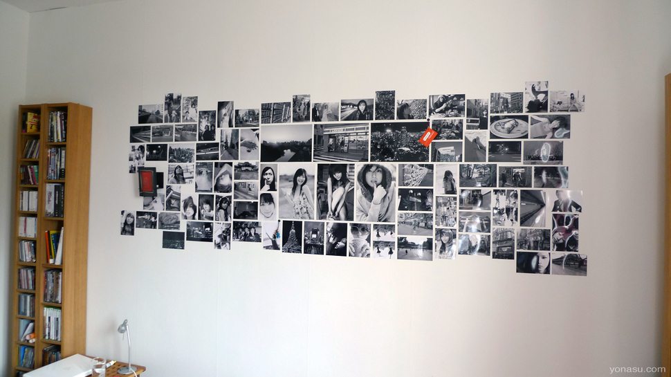Gallery Wall Ideas Black And White : Photo wall collage without frames layout ideas