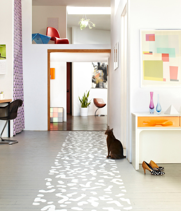 Painting Wooden Floors: Top 10 Stencil And Painted Rug Ideas For Wood Floors