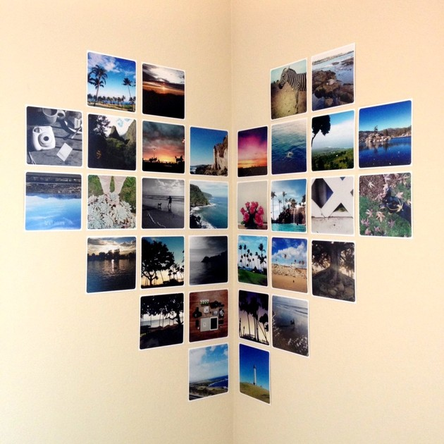 photo wall corner layout thumb 630xauto 55801 Photo Wall Collage Without Frames: 17 Layout Ideas