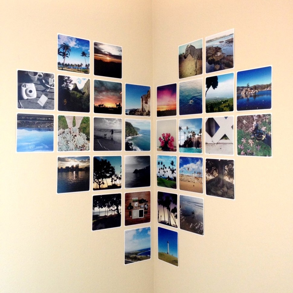 Ideas For Hanging Pictures On Wall Without Frames photo wall collage without frames: 17 layout ideas