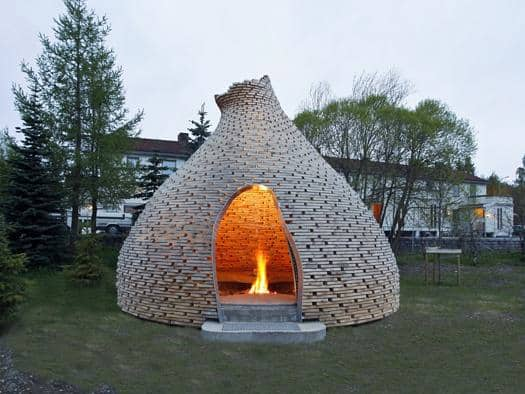 futuristic backyard sheds offices studios enclosed group fireplace