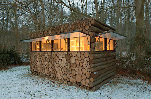 futuristic backyard sheds offices studios log pile workspace