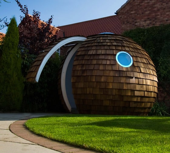 futuristic backyard sheds offices studios spherical detached office