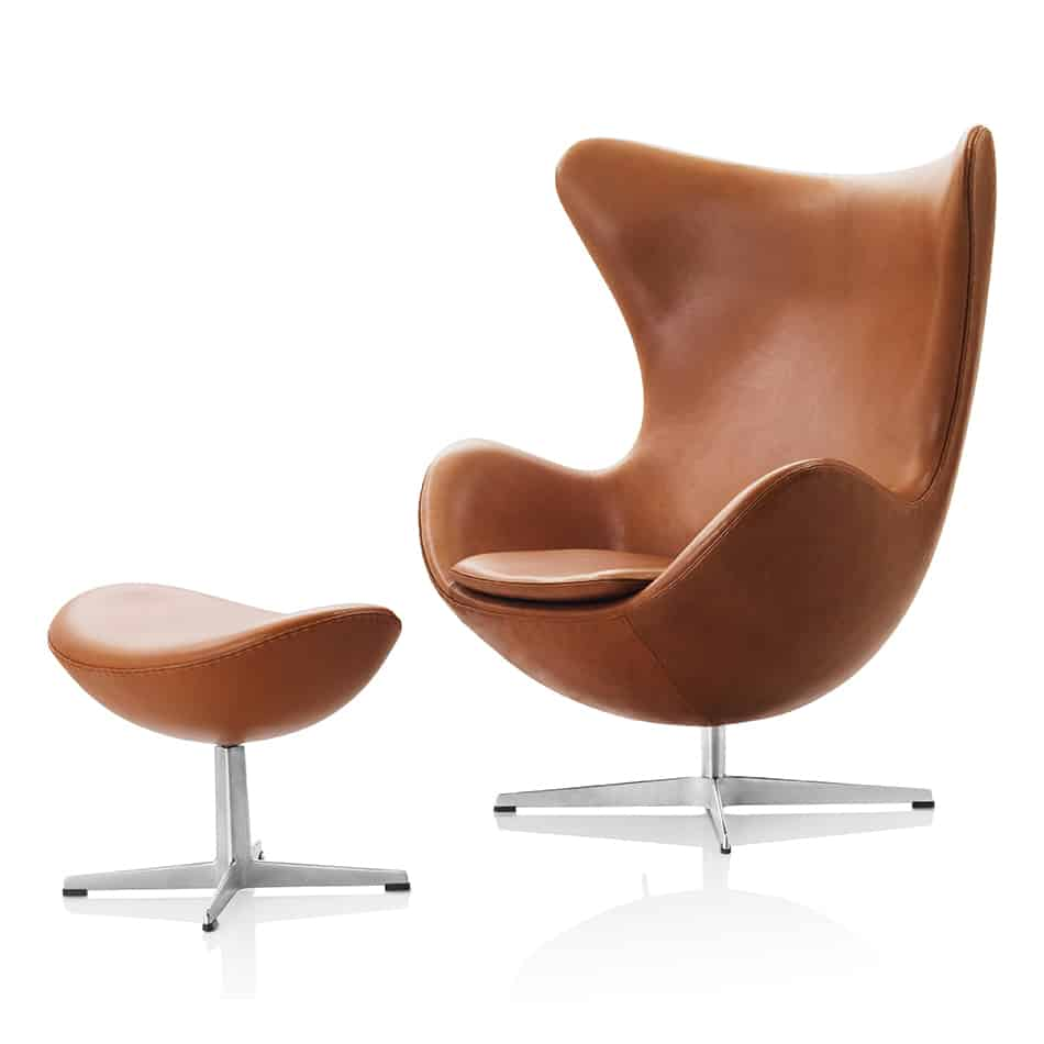 View In Gallery Lounge Chair With Footstool Egg Arne Jacobsen 3.