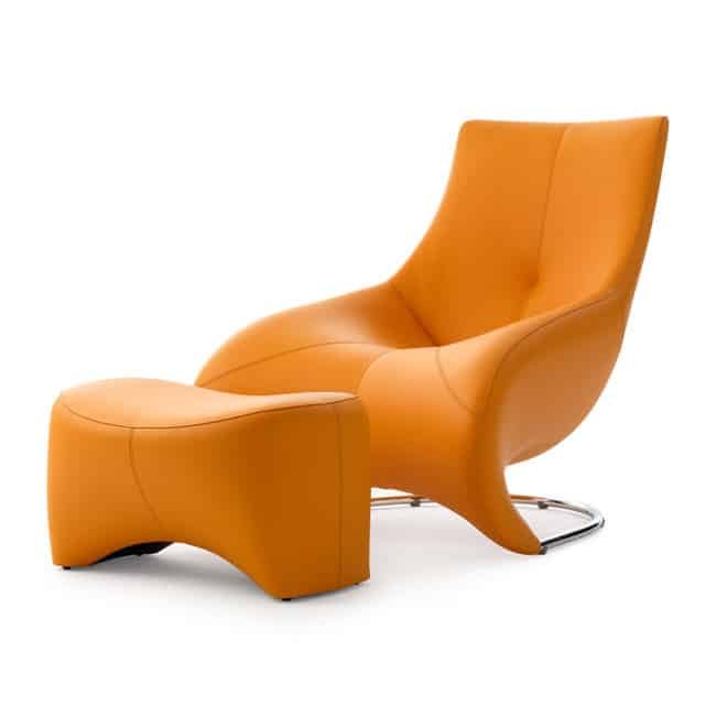 Elegant View In Gallery Lounge Chair With Footstool Leolux Darius 5