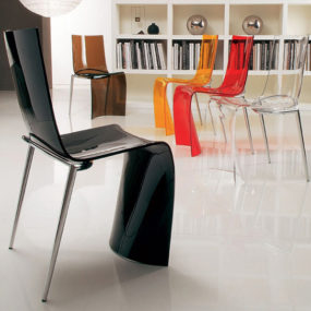 Transparent Colored Chair – modern Verner chairs from Colico