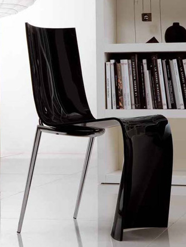colico chair verner 2 Transparent Colored Chair   modern Verner chairs from Colico