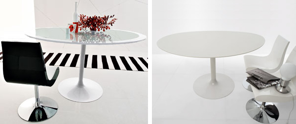 compar oval cocktail tables glass pedestal polo 2