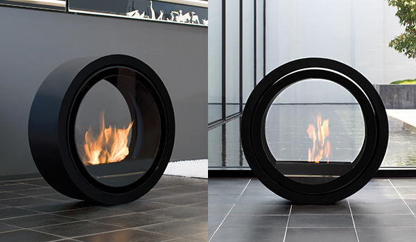 Ultra Modern Fireplaces – rolling fireplace by Conmoto