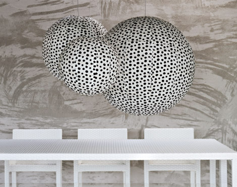 gervasoni paper lamp round Spherical Paper Lamp Shade by Gervasoni