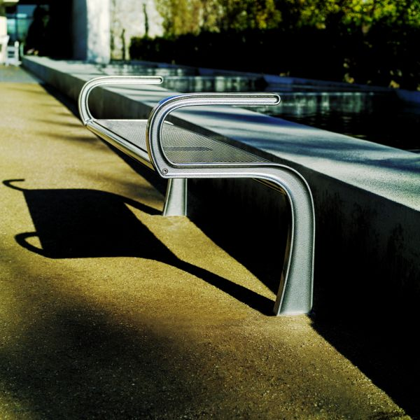 landscapeforms park bench stay backrest Ultra modern Park Bench by Landscapeforms   Stay