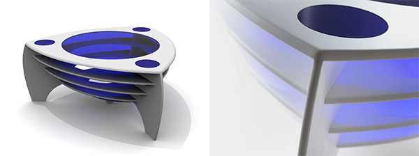lapolloslate best2 Modern Corian Coffee Tables by Stuart Melrose