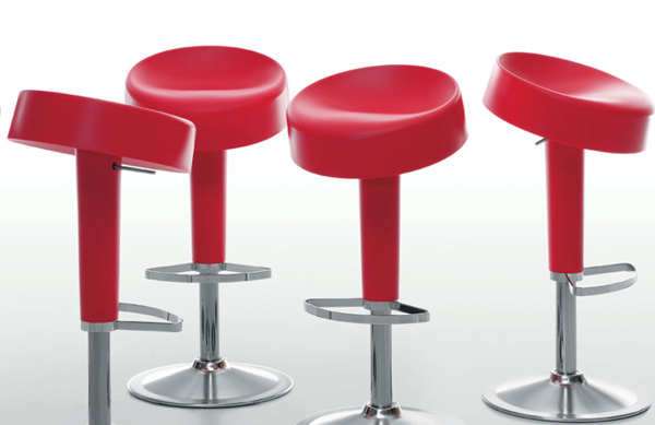 maxdesign barstools sugar free 1 Color Molded Plastic Barstool from Maxdesign   Sugar Free
