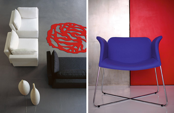 modern furniture designs beside armchairs 1