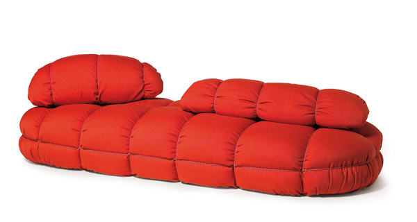 Merveilleux Modern Soft Polyurethane Red Sofa By Skitsch