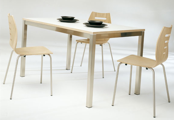 modern breakfast table chairs by ozzio - Breakfast Table With Chairs