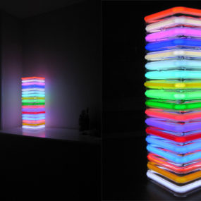 Modern Neon Lamps by Roger Borg