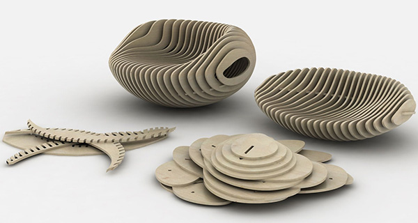 Recycled Wood Chairs from Particleboard by Samarreda