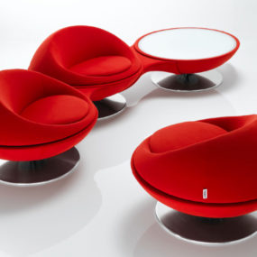 Rotating Armchair 123 by Steiner