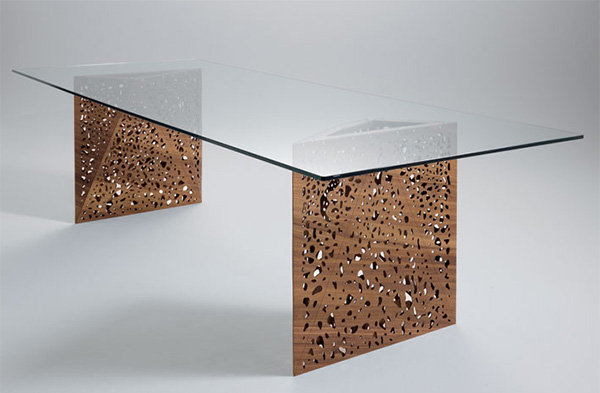 ultra modern furniture horm riddled table Ultra Modern Dining Room Furniture from Horm