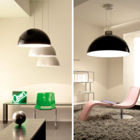 Over-sized Round Suspension Light by Zava is up to 6 feet in diameter!