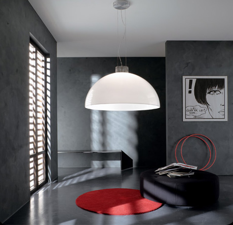 zava round suspension light luna Over sized Round Suspension Light by Zava is up to 6 feet in diameter!
