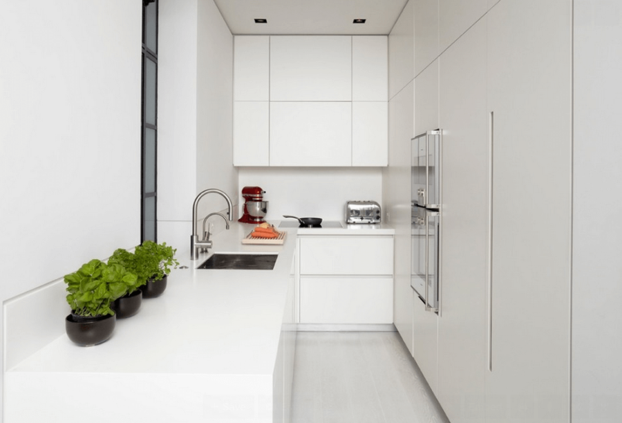 View In Gallery Small White Kitchen