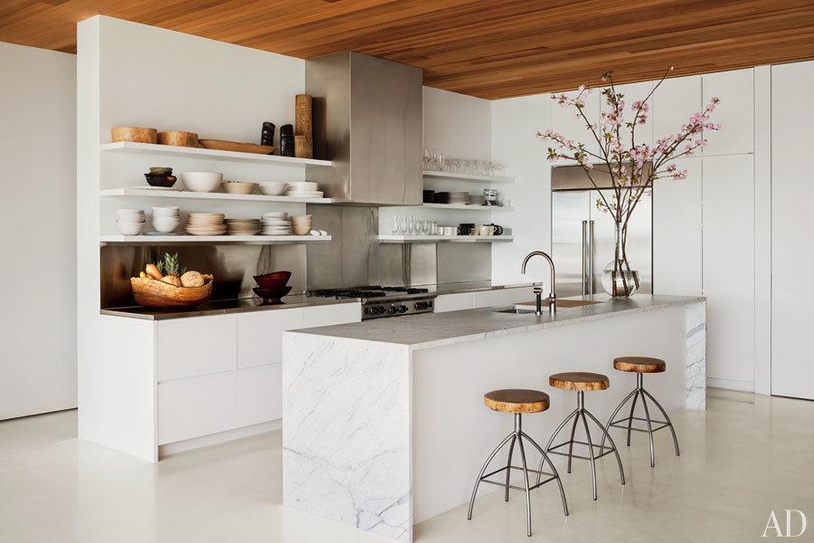 white cream kitchen