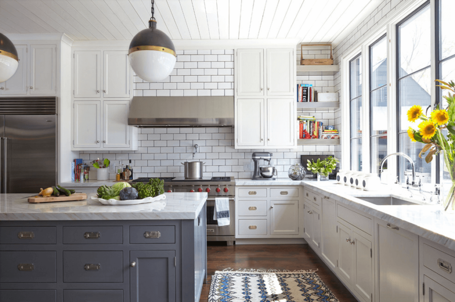 View In Gallery White Kitchen Subway Tile